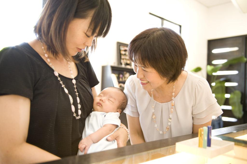 赤ちゃん お祝い 出産 出産祝 記念 命名 お守り 我が子 女の子のママ 男の子ママ 命名書 誕生石